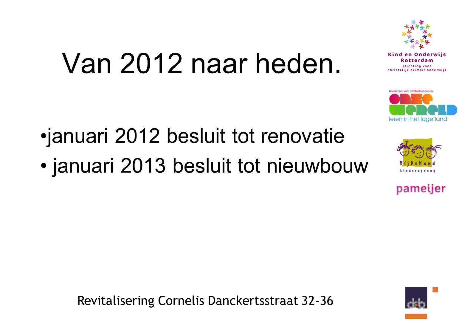 Revitalisering Cornelis Danckertsstraat 32-36 Van 2012 naar heden.
