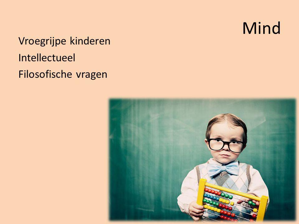 Mind Vroegrijpe kinderen Intellectueel Filosofische vragen