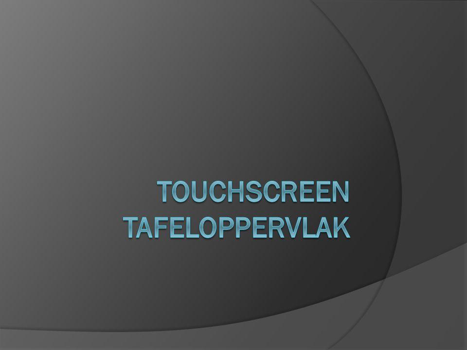 Techniek: Het tafel oppervlak is gewoon een groot touchscreen aangesloten op een computer die zich in de bodem van de tafel bevind, de tafel heeft geen poten maar een blok met een plaat erop.