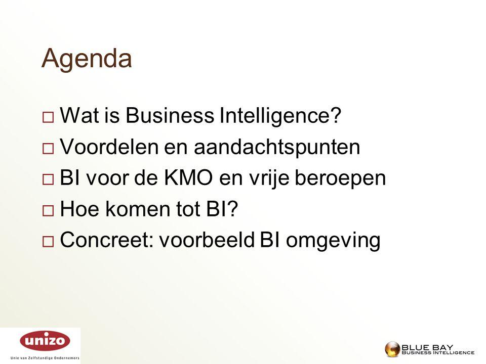 Agenda  Wat is Business Intelligence.