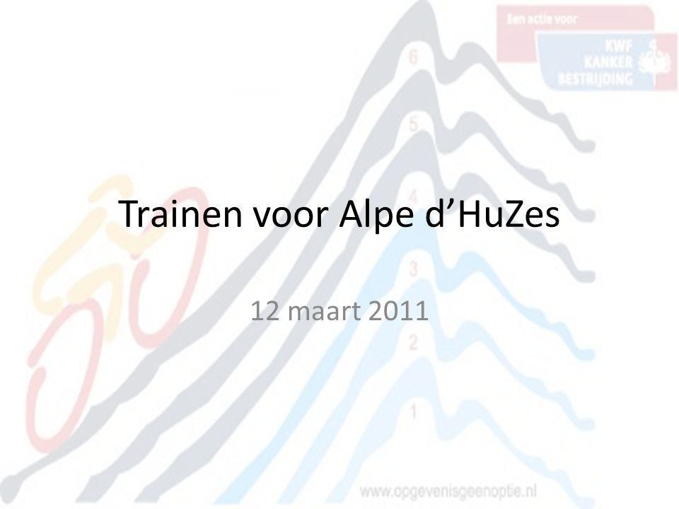 Trainen voor Alpe d'HuZes 12 maart 2011