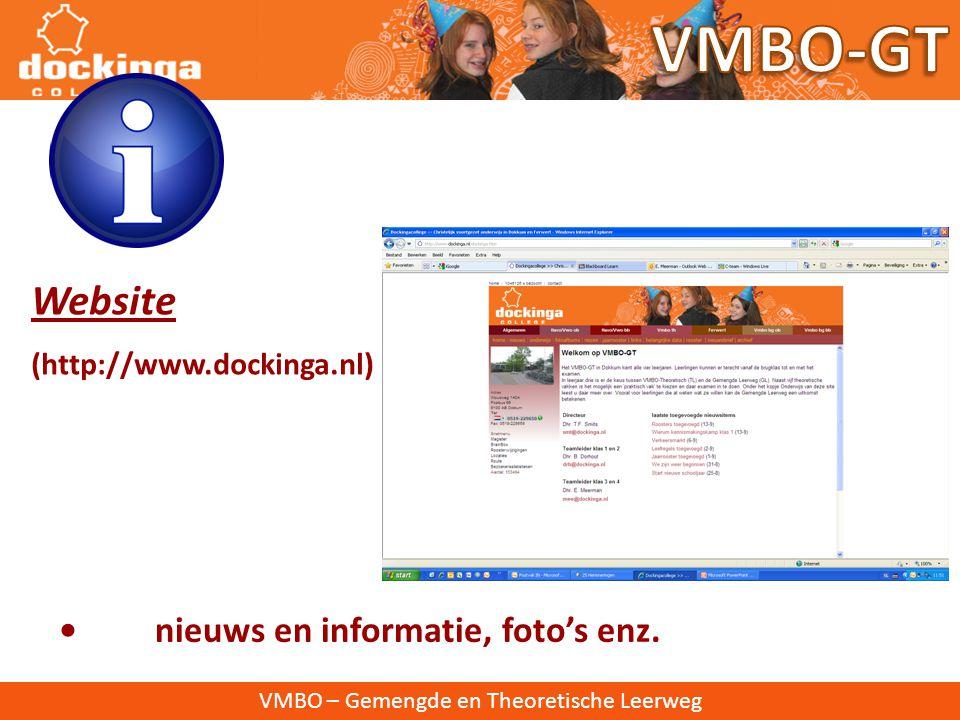 VMBO – Gemengde en Theoretische Leerweg Spreekavond: 18 december en 9 april Informatie-avond: In april 2013 kiezen leerlingen een definitief vakkenpak