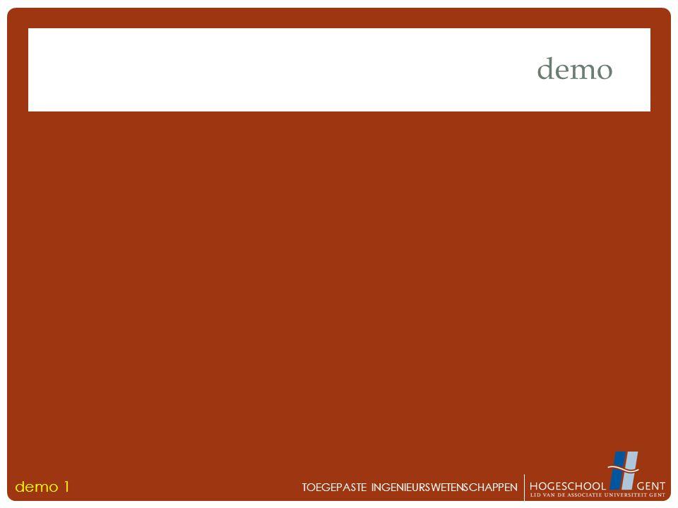 demo TOEGEPASTE INGENIEURSWETENSCHAPPEN demo 1