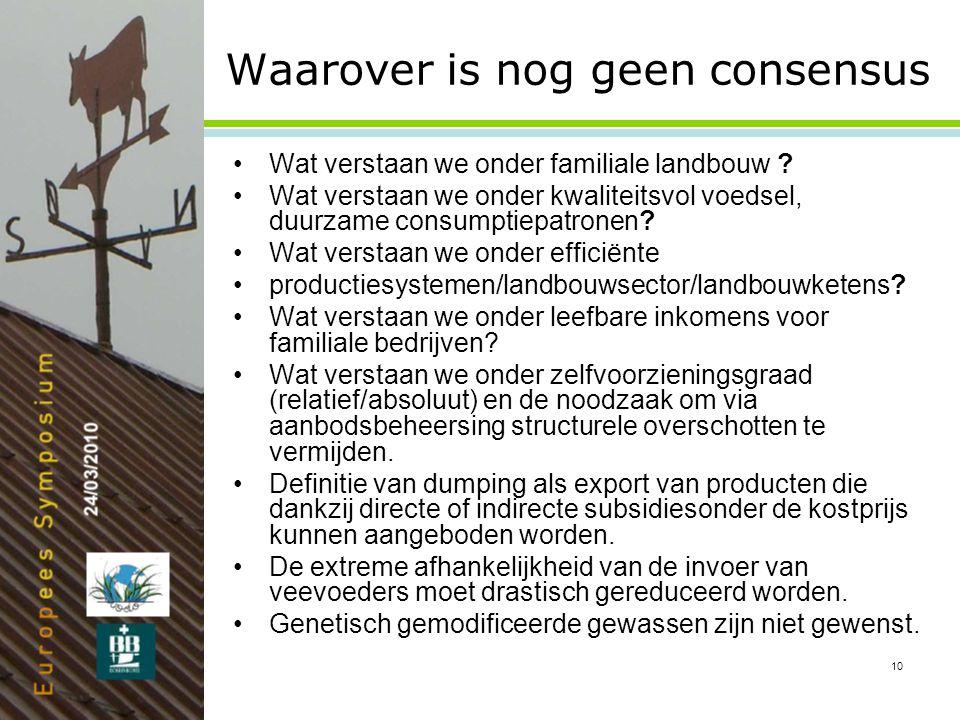 10 Waarover is nog geen consensus •Wat verstaan we onder familiale landbouw .