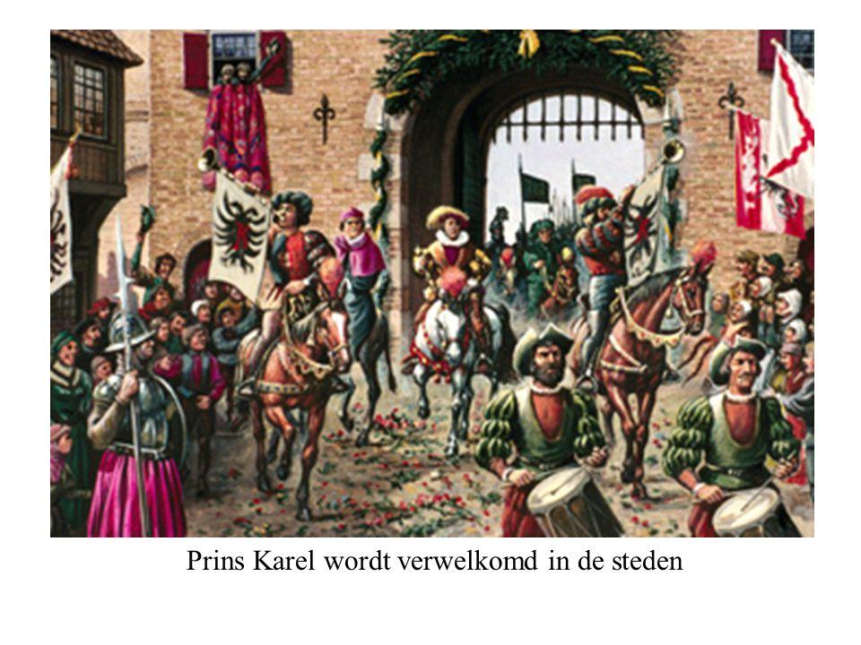 Prins Karel wordt verwelkomd in de steden © copyrights, o Beeldonderwijs BV © 2002, Fibo Beeldonderwijs B.V.
