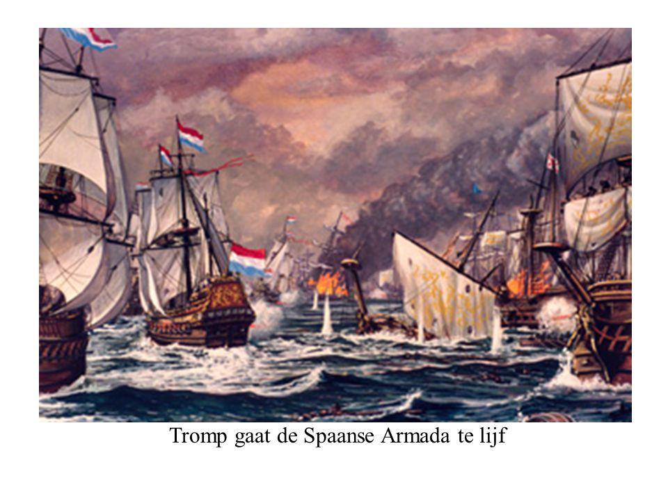 Tromp gaat de Spaanse Armada te lijf