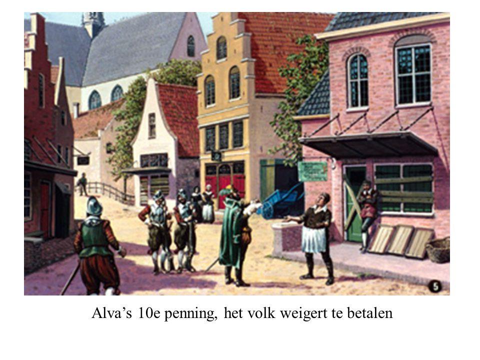 Alva's 10e penning, het volk weigert te betalen © copyrights, © 2002, Fibo Beeldonderwijs B.V.