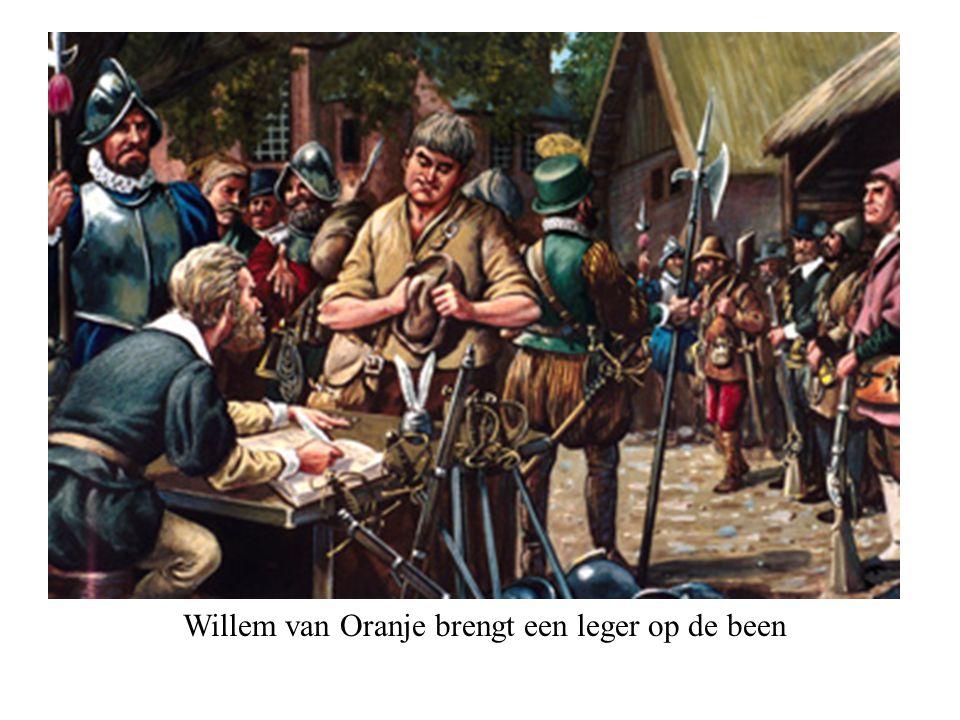 Willem van Oranje brengt een leger op de been