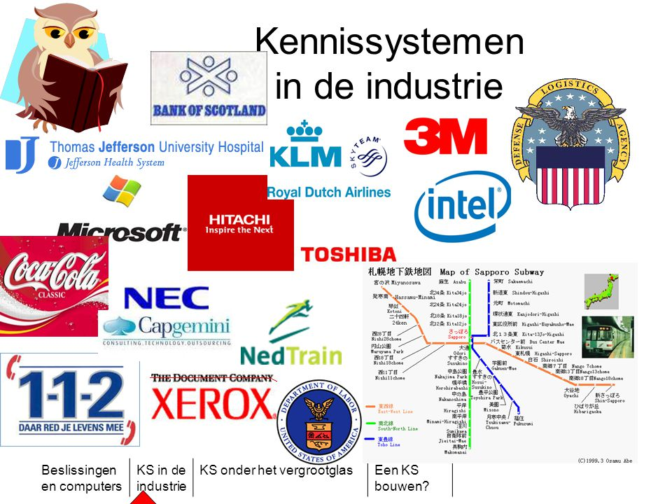 Beslissingen en computers KS in de industrie KS onder het vergrootglasEen KS bouwen? Kennissystemen in de industrie