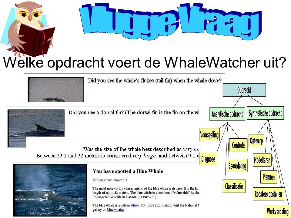 Beslissingen en computers KS in de industrie KS onder het vergrootglasEen KS bouwen? Welke opdracht voert de WhaleWatcher uit?