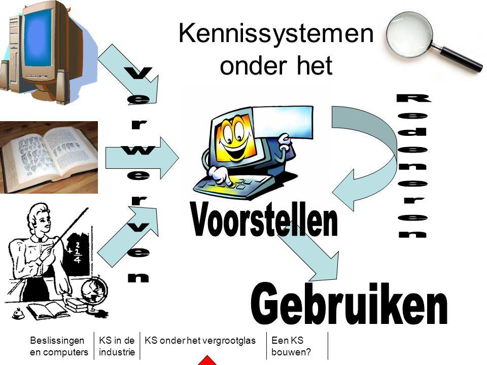 Beslissingen en computers KS in de industrie KS onder het vergrootglasEen KS bouwen? Kennissystemen onder het