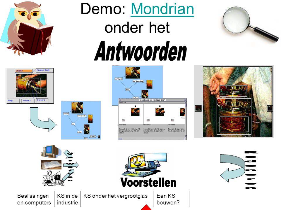 Beslissingen en computers KS in de industrie KS onder het vergrootglasEen KS bouwen? Demo: Mondrian onder hetMondrian