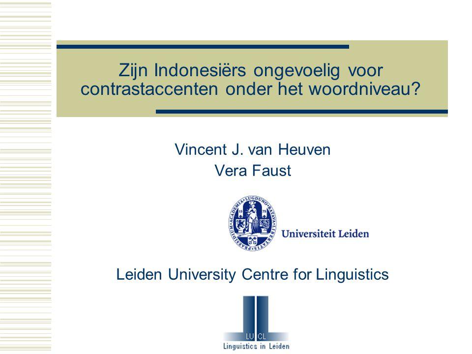 22-12-2005 van Heuven & Faust11 Methode  Basisprincipe als bij Ebing maar nu in NL  Kies welke voortzetting beter is  Paarsgewijs: 1 vs.