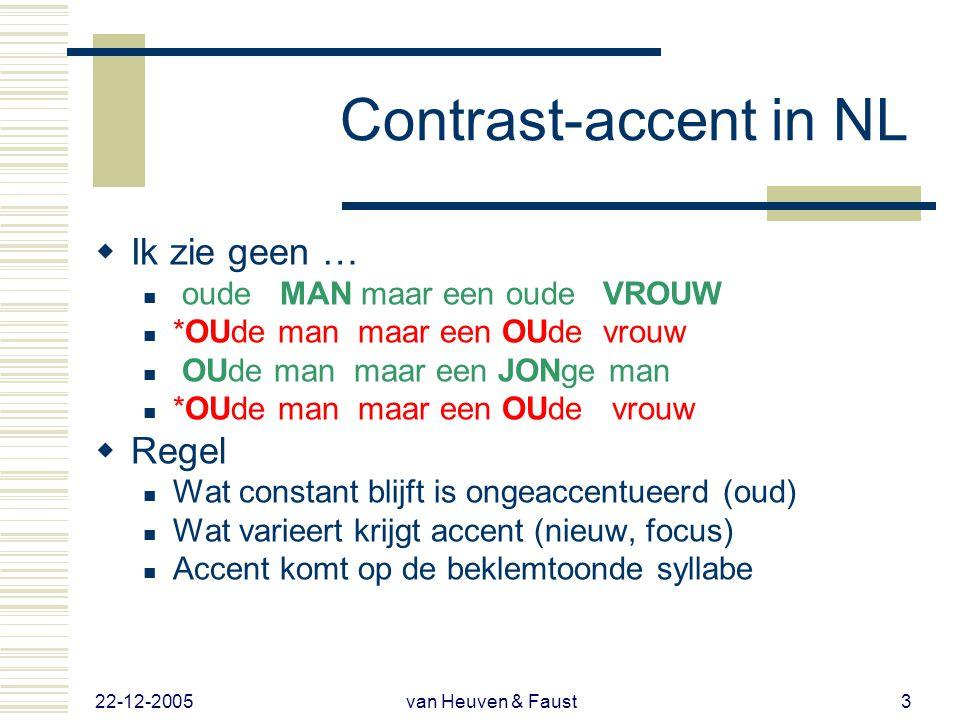 22-12-2005 van Heuven & Faust13 Resultaten  Presentatie 1  Hoe goed gebruiken Indonesiërs vs.