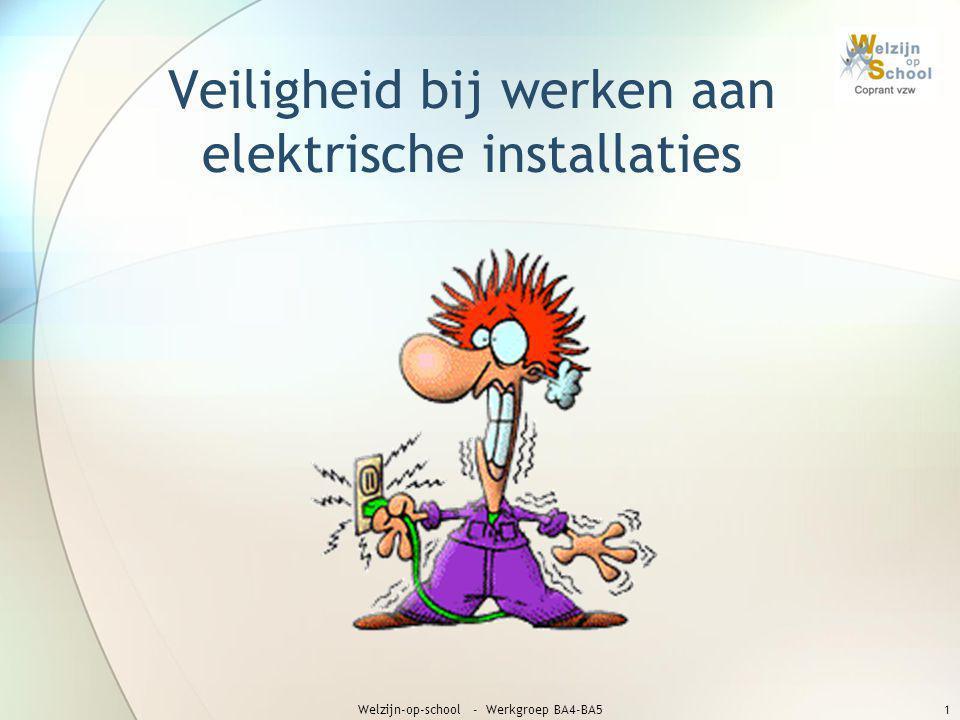 Veiligheid bij werken aan elektrische installaties Welzijn-op-school - Werkgroep BA4-BA51