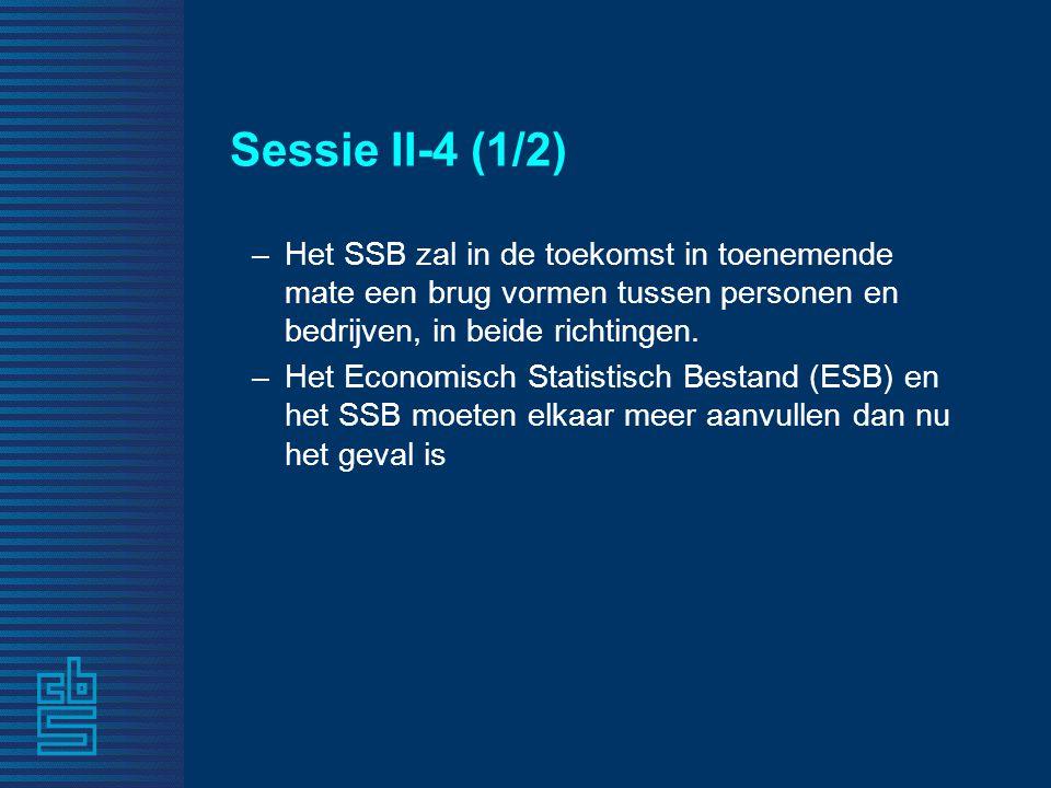 Sessie II-4 (1/2) –Het SSB zal in de toekomst in toenemende mate een brug vormen tussen personen en bedrijven, in beide richtingen.