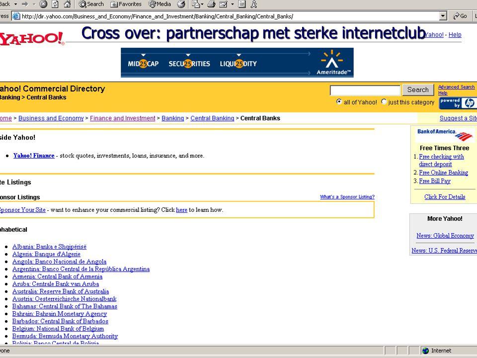 Cross over: partnerschap met sterke internetclub