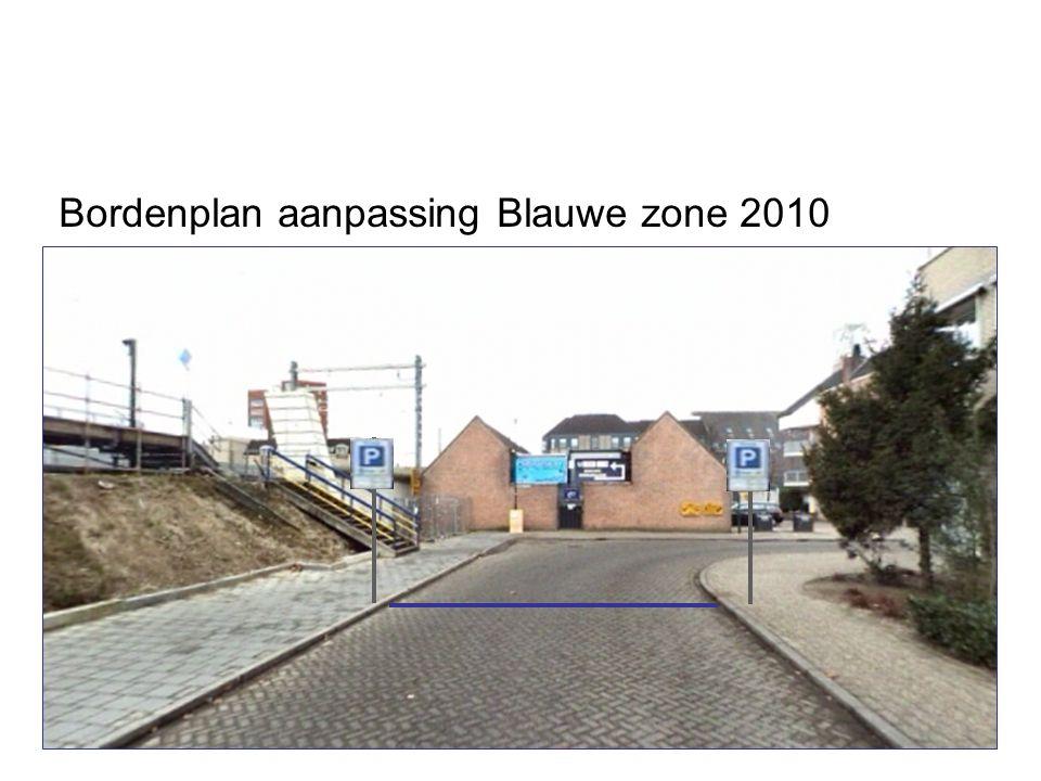 Bordenplan aanpassing Blauwe zone 2010