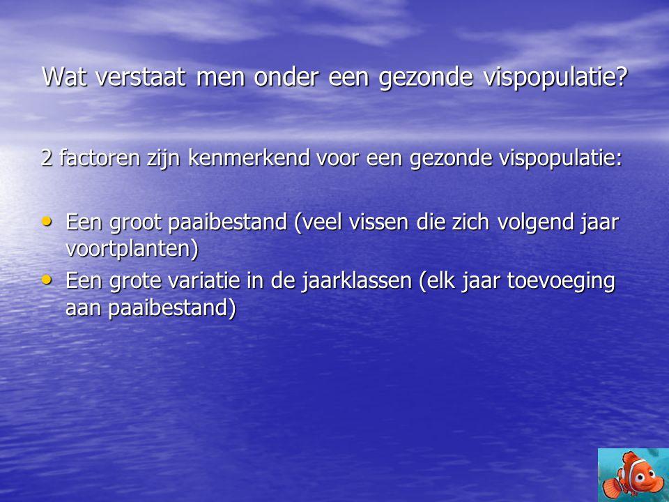 Conclusie (1) -Gezonde vispopulatie is belangrijk.