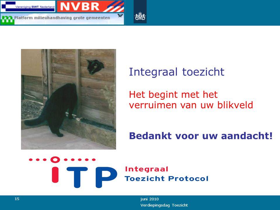 14 juni 2010 Verdiepingsdag Toezicht Bestuur Management Toezichthouder Vrijblijvend of verplicht .