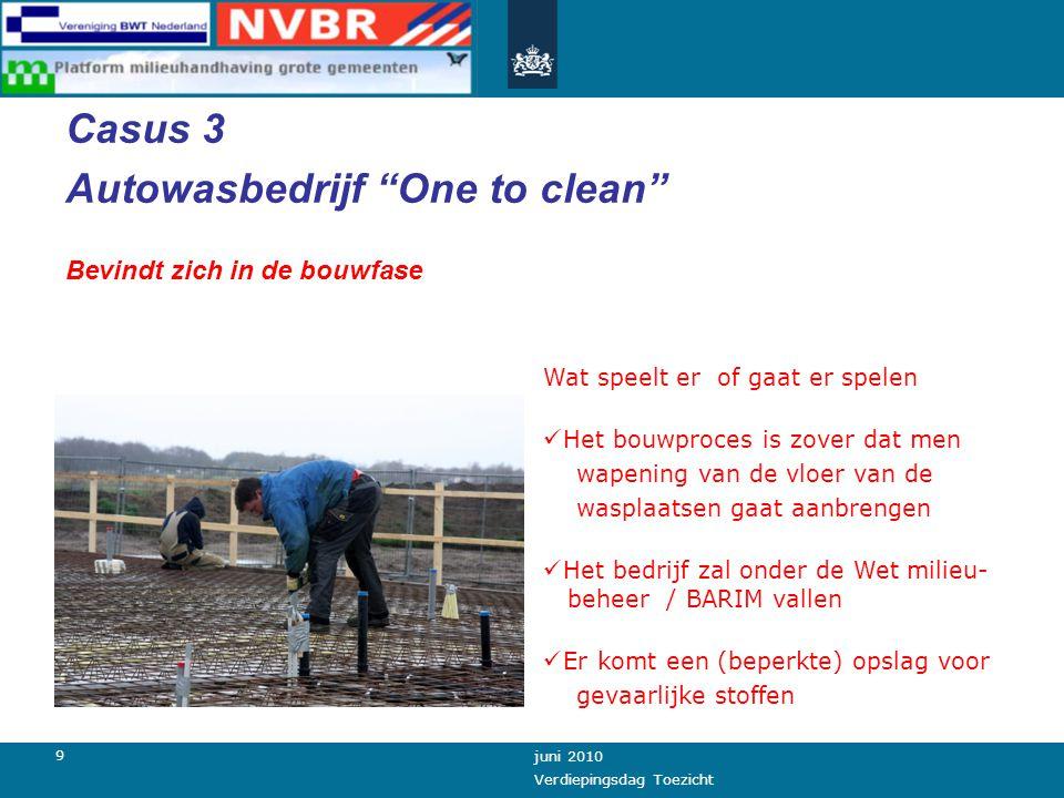 8 juni 2010 Verdiepingsdag Toezicht Milieu BWT En wie durft er integraal toezicht uit te (laten) voeren.