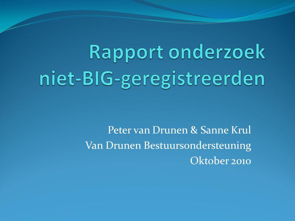 Peter van Drunen & Sanne Krul Van Drunen Bestuursondersteuning Oktober 2010