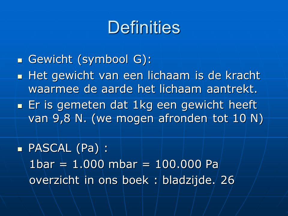 Wet van Gay-Lussac  Bij constant volume is de druk van een hoeveelheid gas recht evenredig met zijn temperatuur in graden Kelvin.