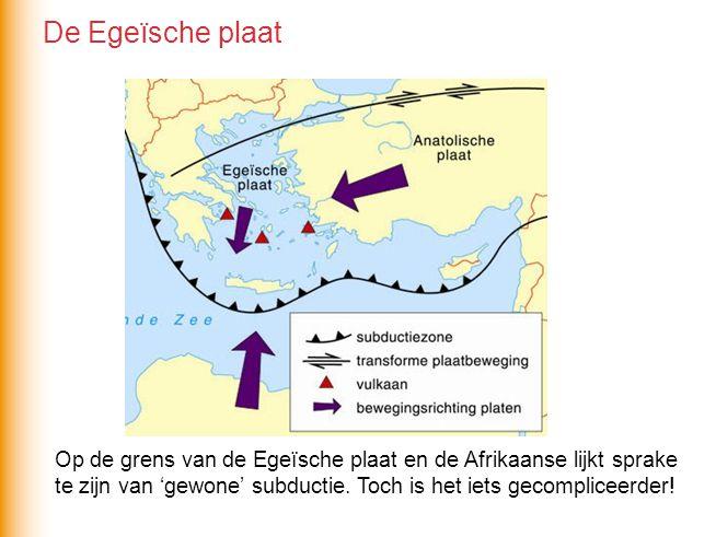 Op de grens van de Egeïsche plaat en de Afrikaanse lijkt sprake te zijn van 'gewone' subductie.