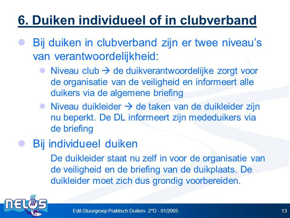 Edit-Stuurgroep Praktisch Duiken - 2*D - 01/200513 6.