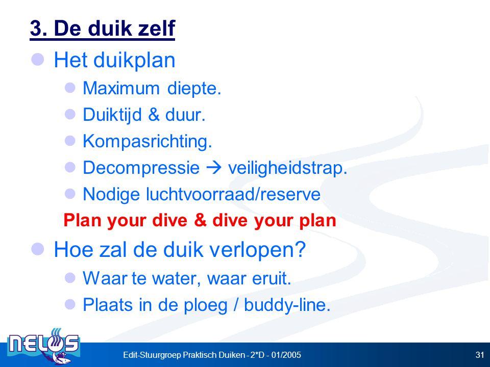 Edit-Stuurgroep Praktisch Duiken - 2*D - 01/200531 3.