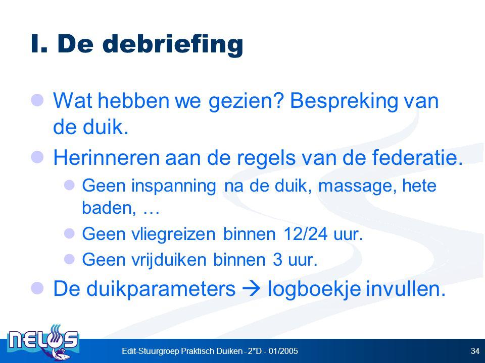 Edit-Stuurgroep Praktisch Duiken - 2*D - 01/200534 I.