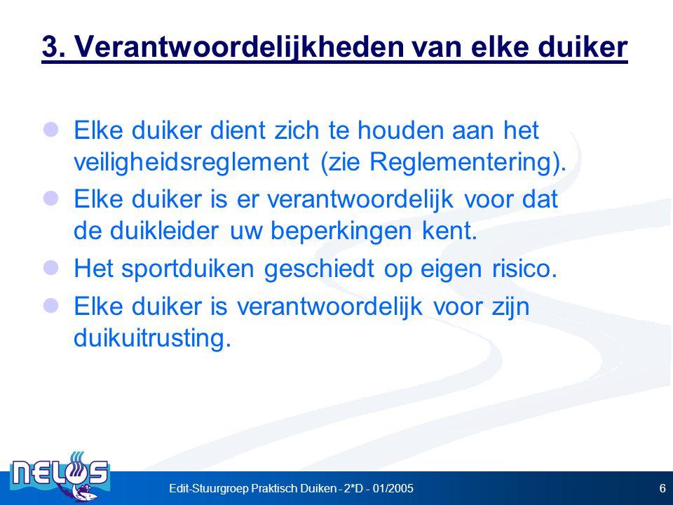 Edit-Stuurgroep Praktisch Duiken - 2*D - 01/20056 3.