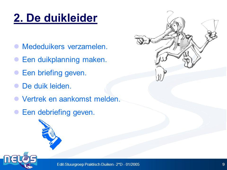 Edit-Stuurgroep Praktisch Duiken - 2*D - 01/20059 2.