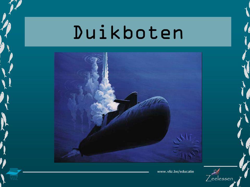 www.vliz.be/educatie Inleiding Om het leven op een grote diepte in de zee te kunnen onderzoeken maakt men gebruik van duikboten.