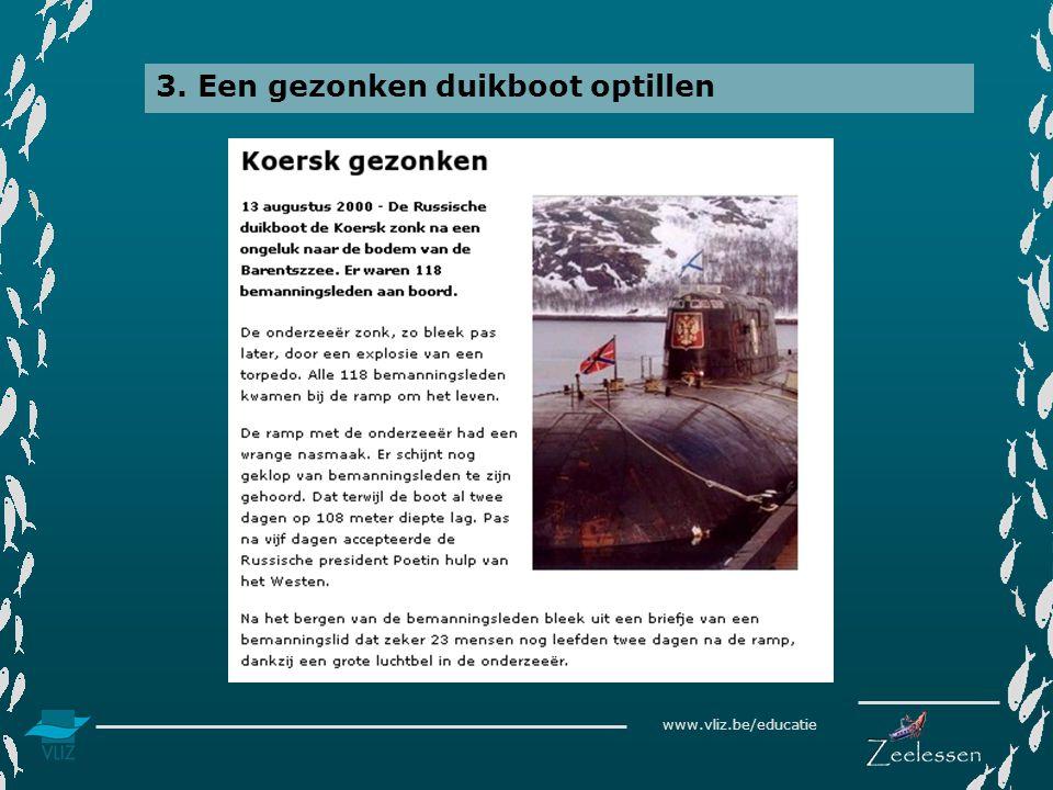 www.vliz.be/educatie 3. Een gezonken duikboot optillen Barentszee