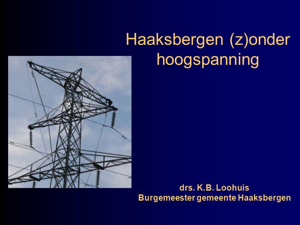 Haaksbergen (z)onder hoogspanning drs. K.B. Loohuis Burgemeester gemeente Haaksbergen