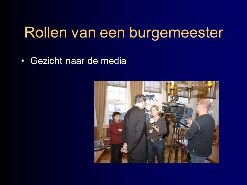 Rollen van een burgemeester •Gezicht naar de media