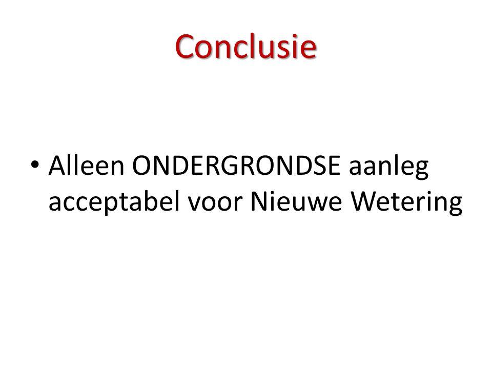 • Alleen ONDERGRONDSE aanleg acceptabel voor Nieuwe Wetering Conclusie