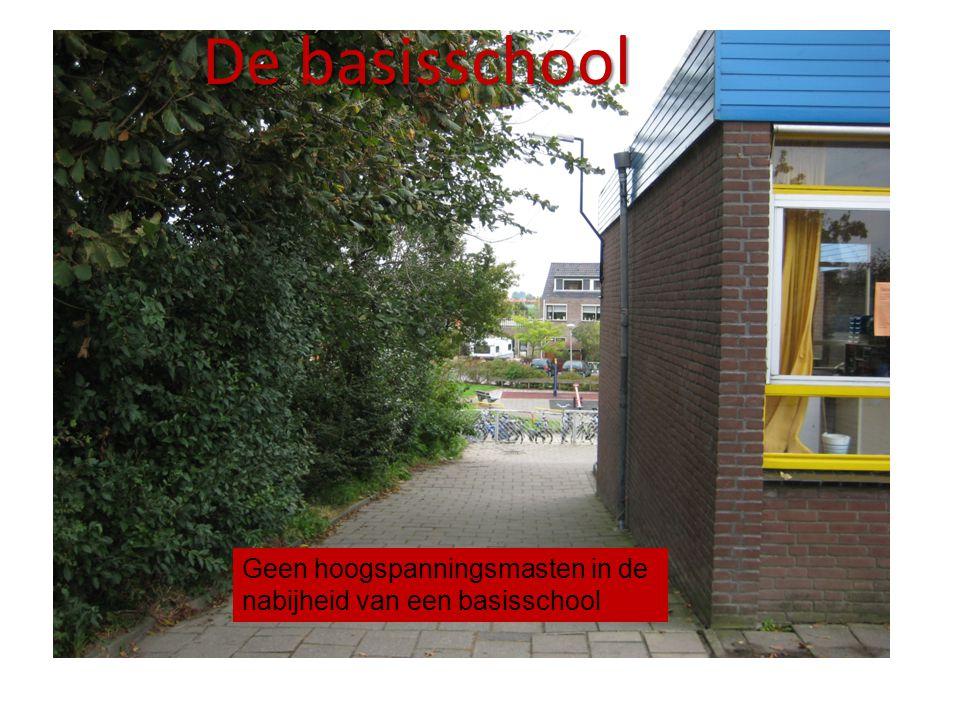 De basisschool Geen hoogspanningsmasten in de nabijheid van een basisschool