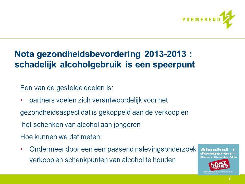 3 Overdracht Nederlandse Voedsel en Warenautoriteit 2010/2012 In 3 jaar: 5 maatregelen opgelegd geen 18 jaar : 1 x horeca 4 x supermarkt 6 maatregelen opgelegd geen 16 jaar: 3 x horeca 3 x supermarkt