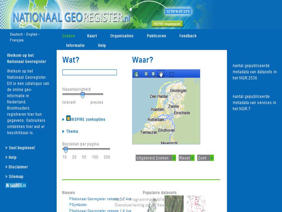 November 2011 PDOK – Programma Publieke Dienstverlening op de Kaart 6