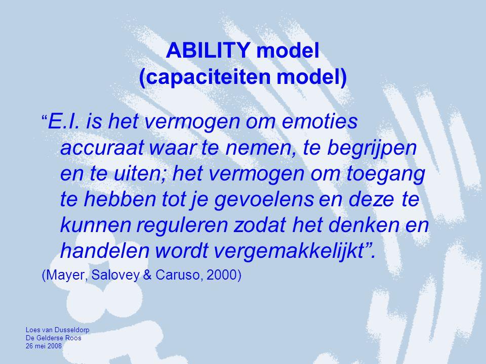 TRAIT model (trekkenmodel) E.I.is combinatie van persoonlijkheids- trekken .