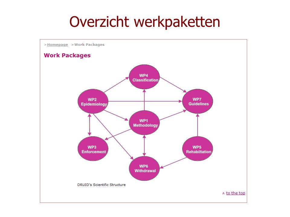 Overzicht werkpaketten