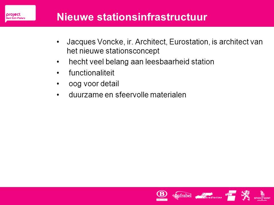 Nieuwe stationsinfrastructuur •Jacques Voncke, ir.