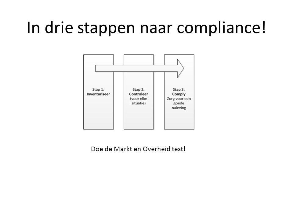 In drie stappen naar compliance! Doe de Markt en Overheid test!