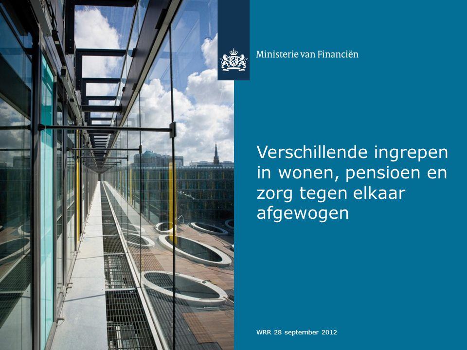 Verschillende ingrepen in wonen, pensioen en zorg tegen elkaar afgewogen WRR 28 september 2012