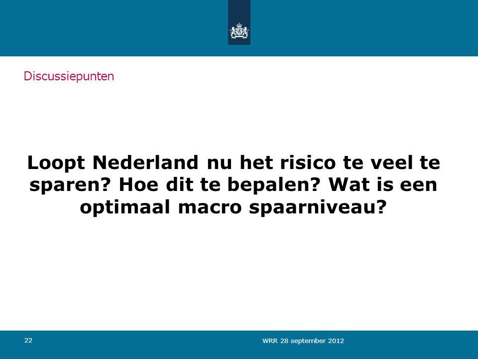 Loopt Nederland nu het risico te veel te sparen.Hoe dit te bepalen.