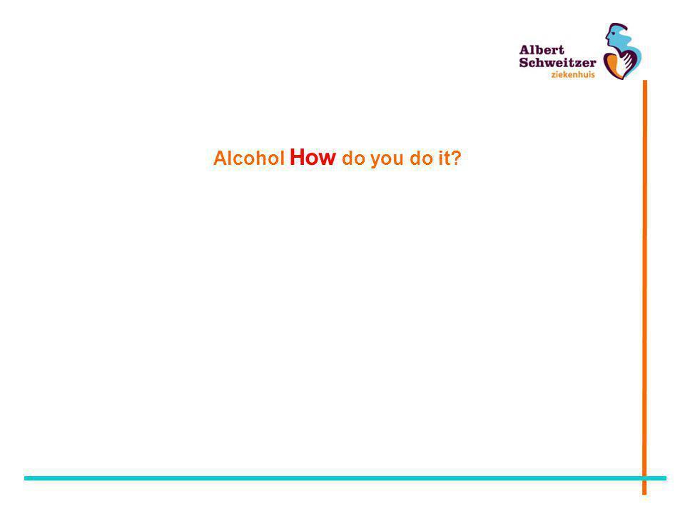 Alcohol How do you do it?