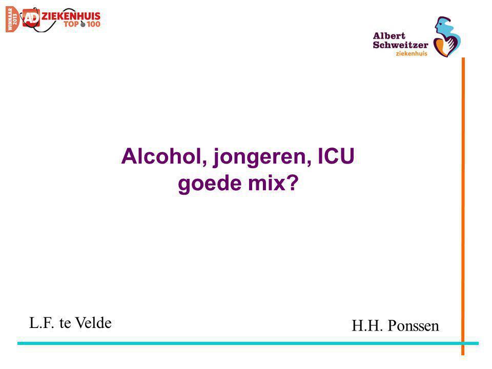 Alcohol, jongeren, ICU goede mix? H.H. Ponssen L.F. te Velde
