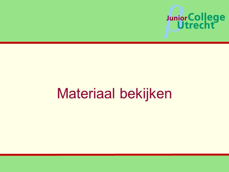β Materiaal bekijken